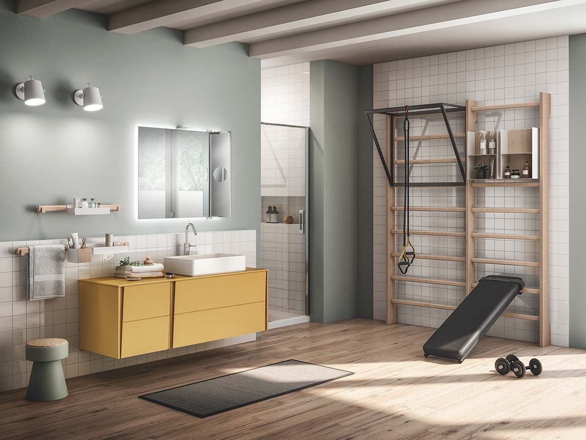 Gym Space by Mattia Pareschi, Scavolini