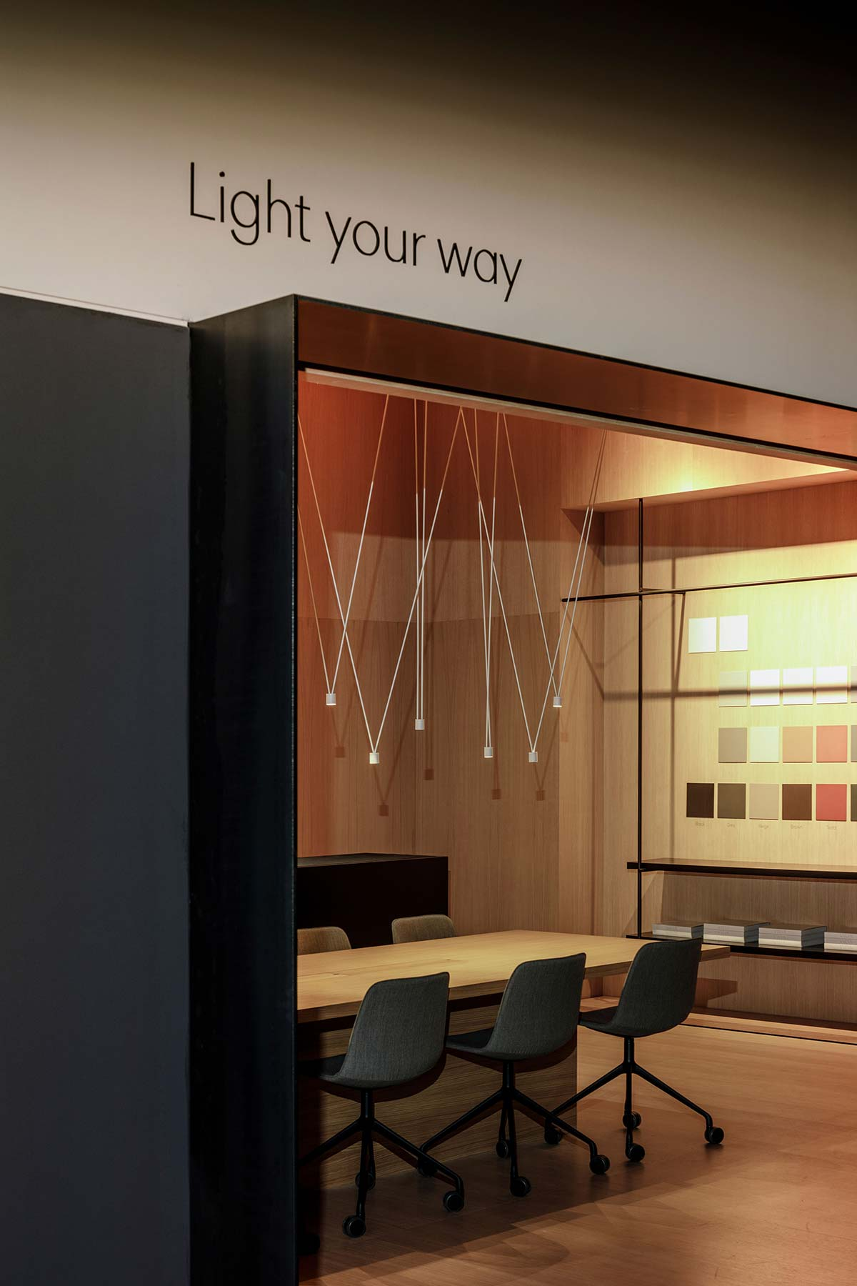 Light your Way, Showroom Vibia