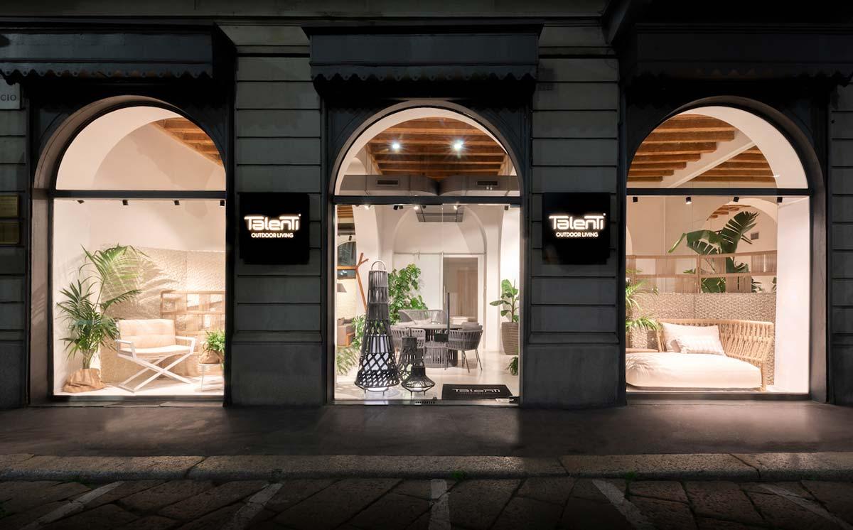 Showroom di Talenti a Milano