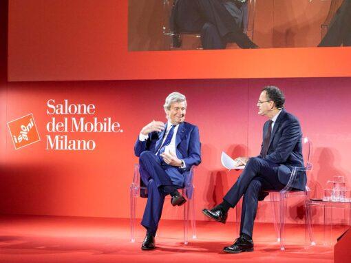 salone del mobile 2021: Conferenza stampa presentazione Salone del Mobile.Milano, Claudio Luti, Presidente del Salone del Mobile