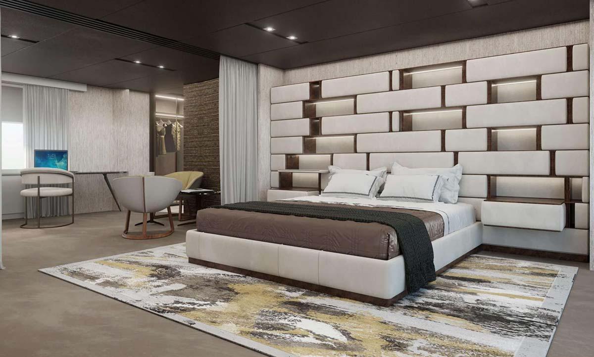 Concept di interior per il 48 m T-Line Baglietto by Visionnaire