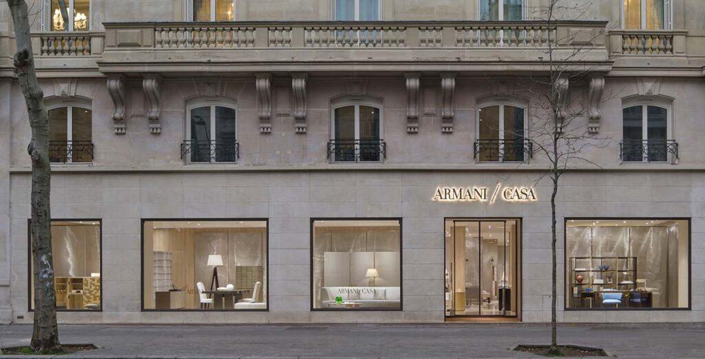 Vetrine Armani/Casa, Store a Parigi