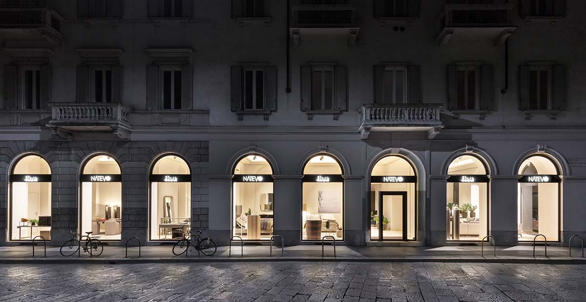 Lo Showroom Nativo by Flou, in via in via Via Edmondo De Amicis 53, a Milano