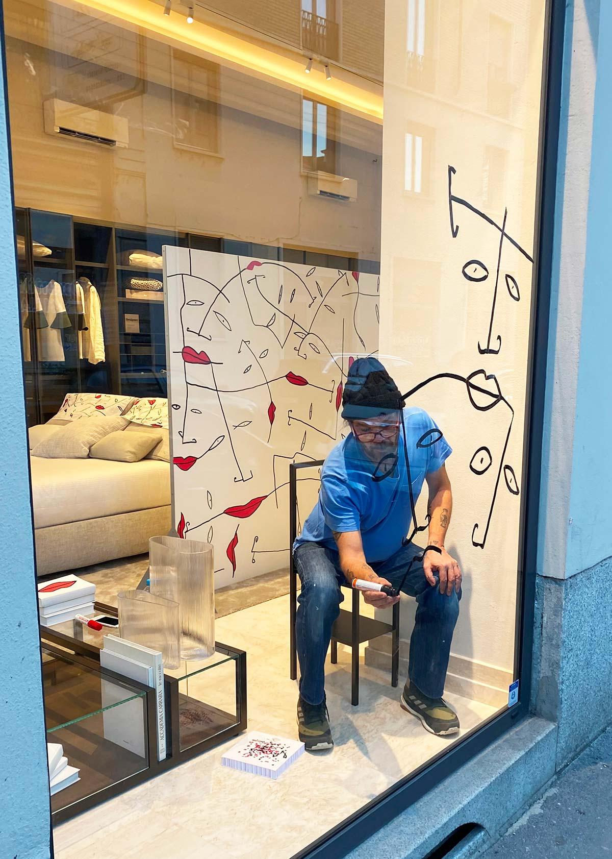 'Mood's of Bixio – le camere dell'artista', Bixio Braghieri, showroom Natevo by Flou