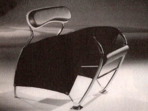Poltrona della linea Dinamic, designer Iosa Ghini, 1986