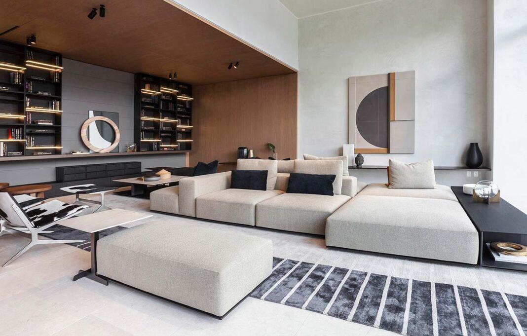 Divano Westside, design Jean-Marie Massaud