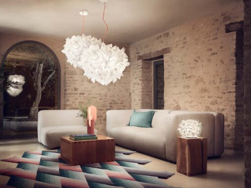 Veli Foliage Suspension by Slamp - Design Adriano Rachele - Photo © Thomas Pagani
