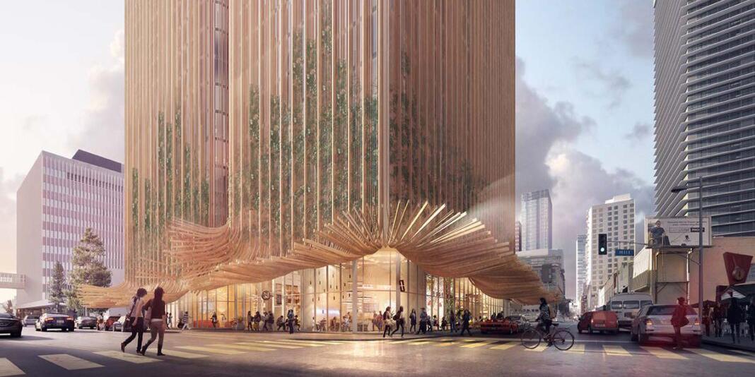 1111 Hilll Street, Los Angeles - Design by Koichi Takada Architects - Render © Doug & Wolf