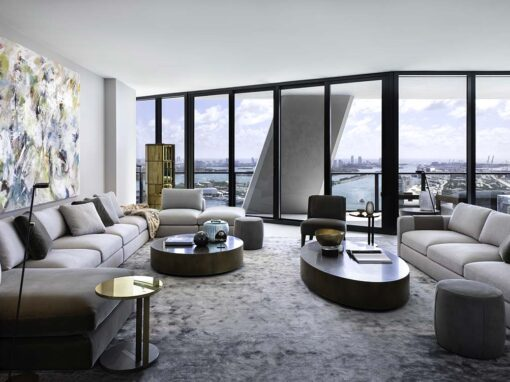 Living area with Harold sofa by Meridiani