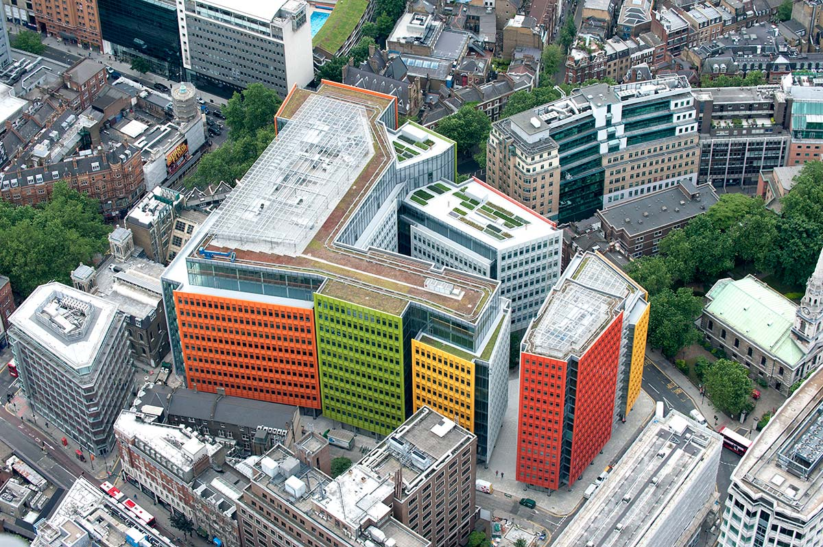Central Saint Giles, architects Renzo Piano Building Workshop and Fletcher Priest