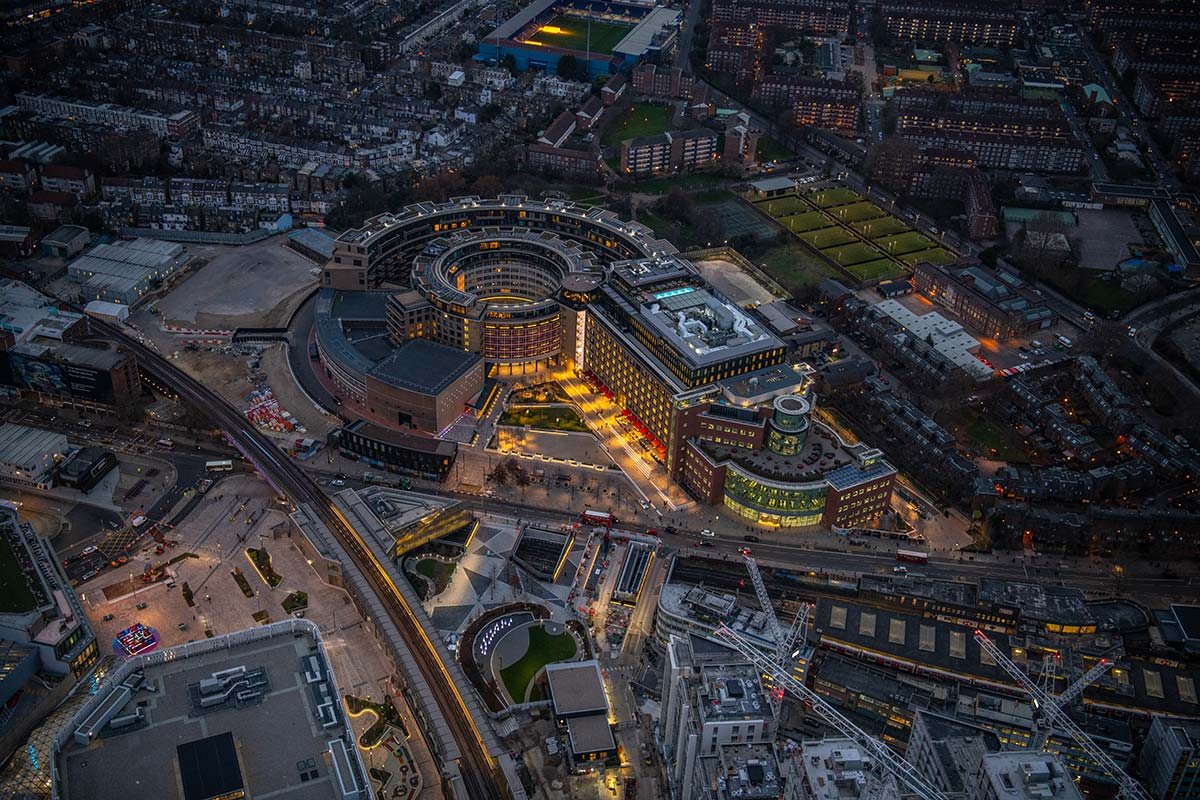 The Television Centre, former BBC TV headquarters, architects AHMM