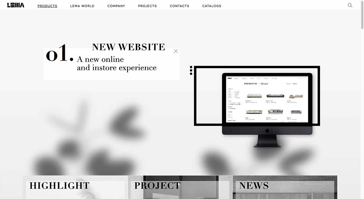 Lema, new website