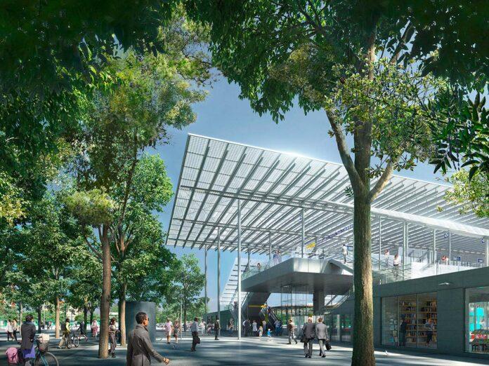 The Sesto San Giovanni station designed by Renzo Piano Building Workshop with Ottavio Di Blasi & Partners