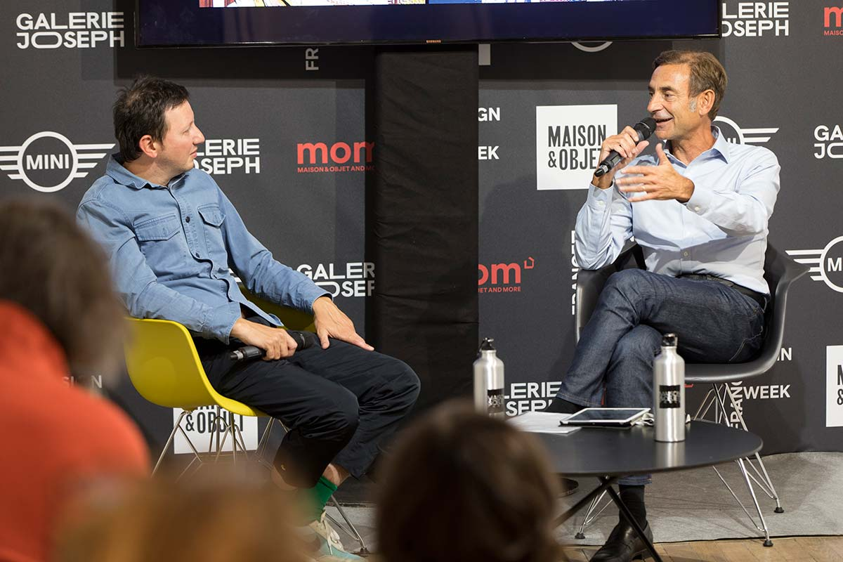 Conversation, Philippe Brocart & Ramy Fischler. Ph @ Julien Cregut