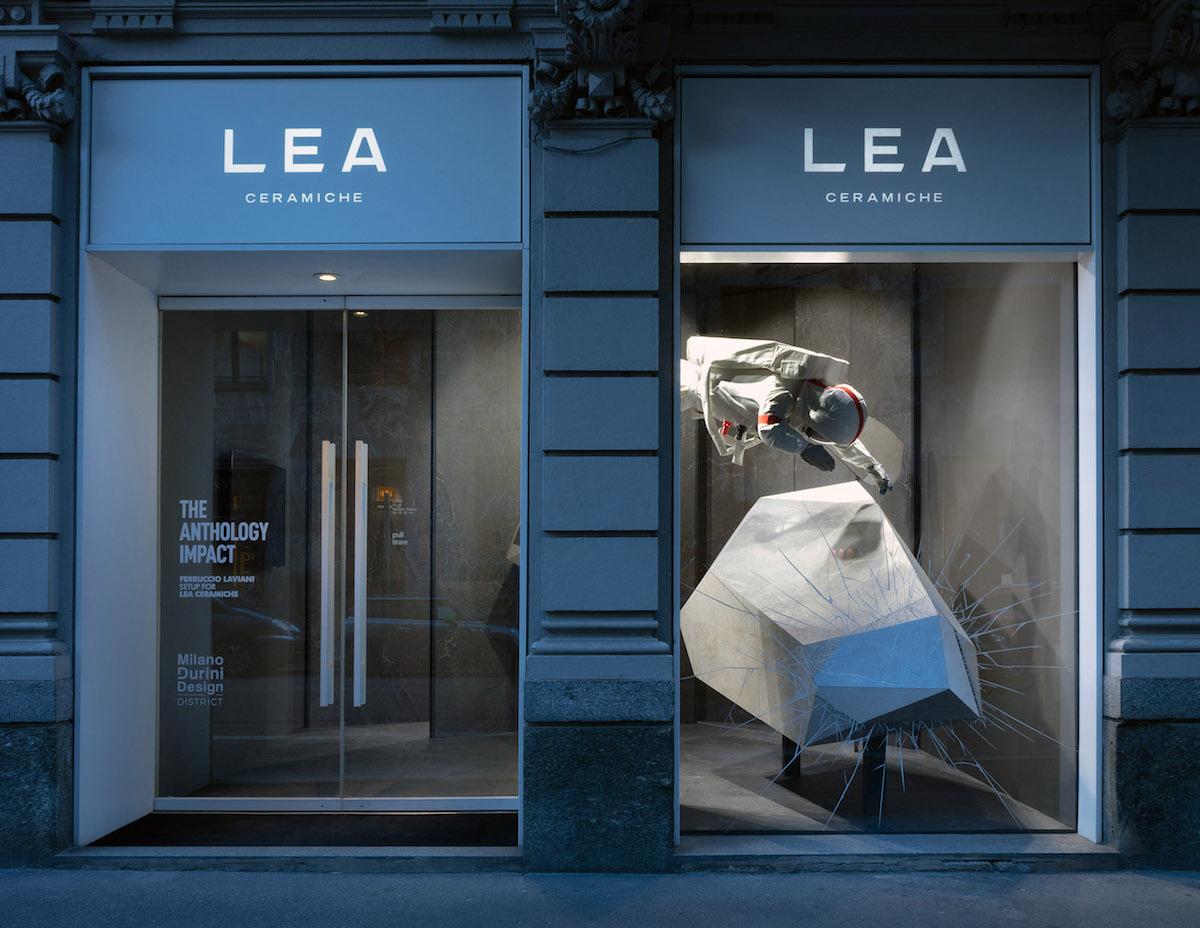 The Anthology Impact, LEA Ceramiche, installazione di Ferruccio Laviani