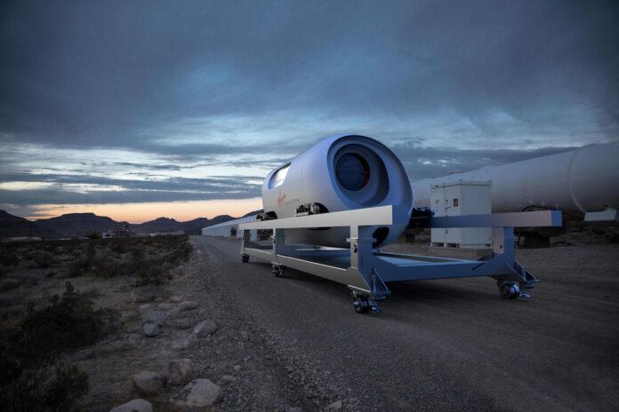 BIG & Virgin Hyperloop, Pegasus. Image Courtesy Virgin Hyperloop