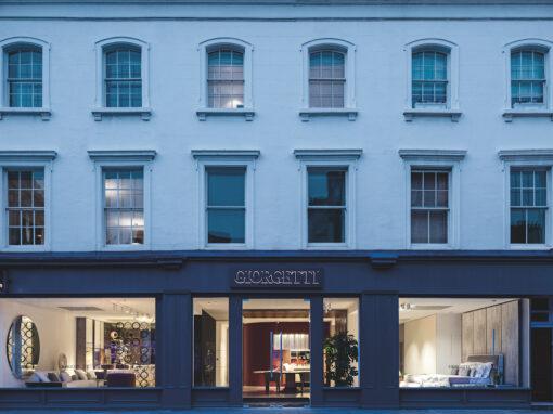 Il nuovo store di Giorgetti a Londra