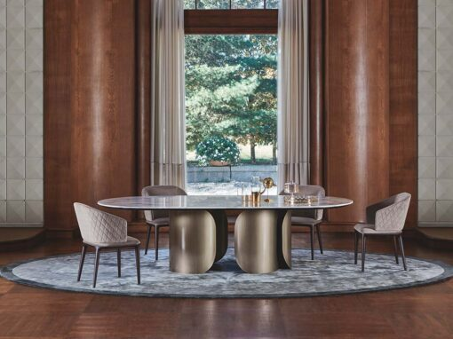 Louise chair & Oscar table by Opera Contemporary - Design Castello Lagravinese Studio