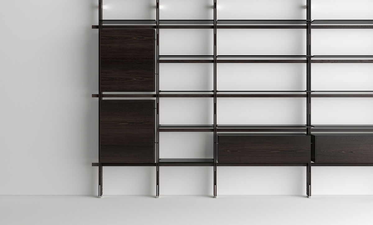 La libreria Hemingway di Massimo Castagna per Tonellidesign