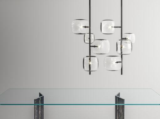 Hyperion, la sospensioni scultoree di Massimo Castagna per Tonellidesign