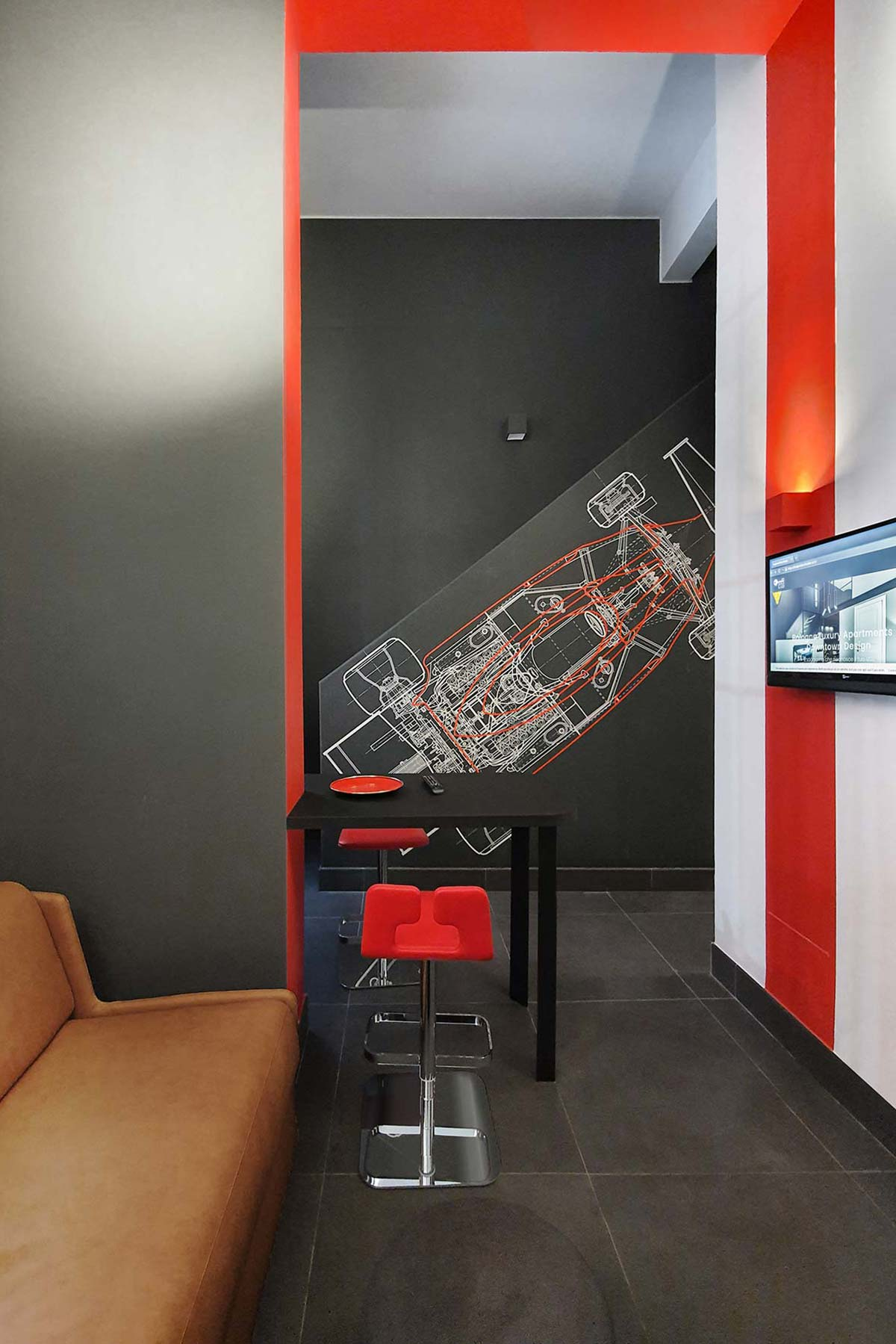 Red Racing, Design Club Branded Apartments, Bologna