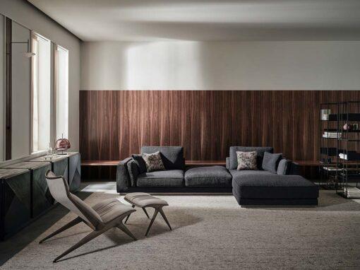 Aurora lounge chair and ottoman by Opera Contemporary, Design Draga & Aurel