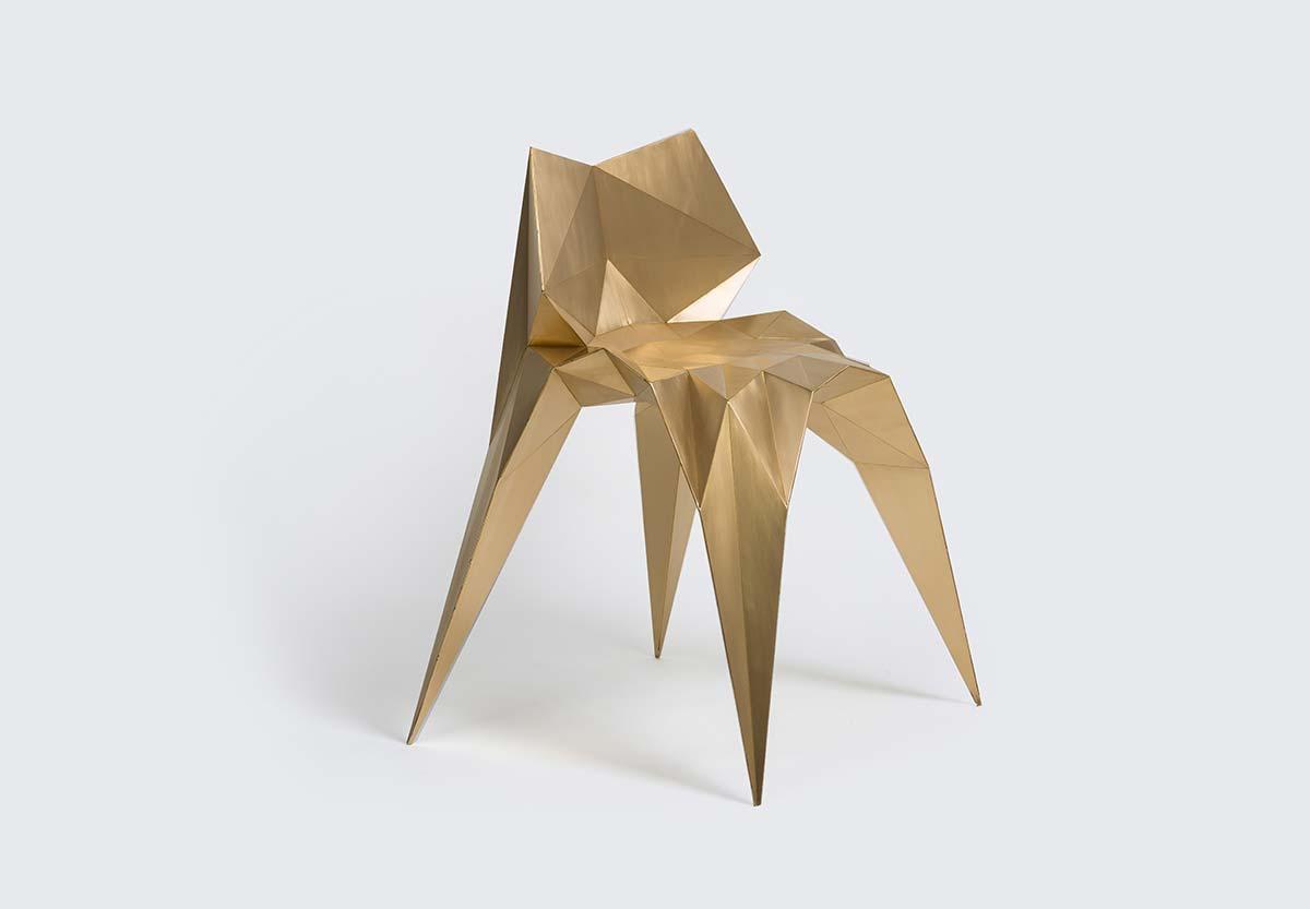 Brass Bow Tie Chair, Design Zhoujie Zhang
