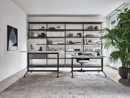 Grasshopper Console, Work from Home collection by Knoll, Design Piero Lissoni - Photo © Federico Cedrone