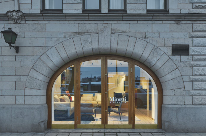 Il nuovo showroom di Minotti a Stoccolma