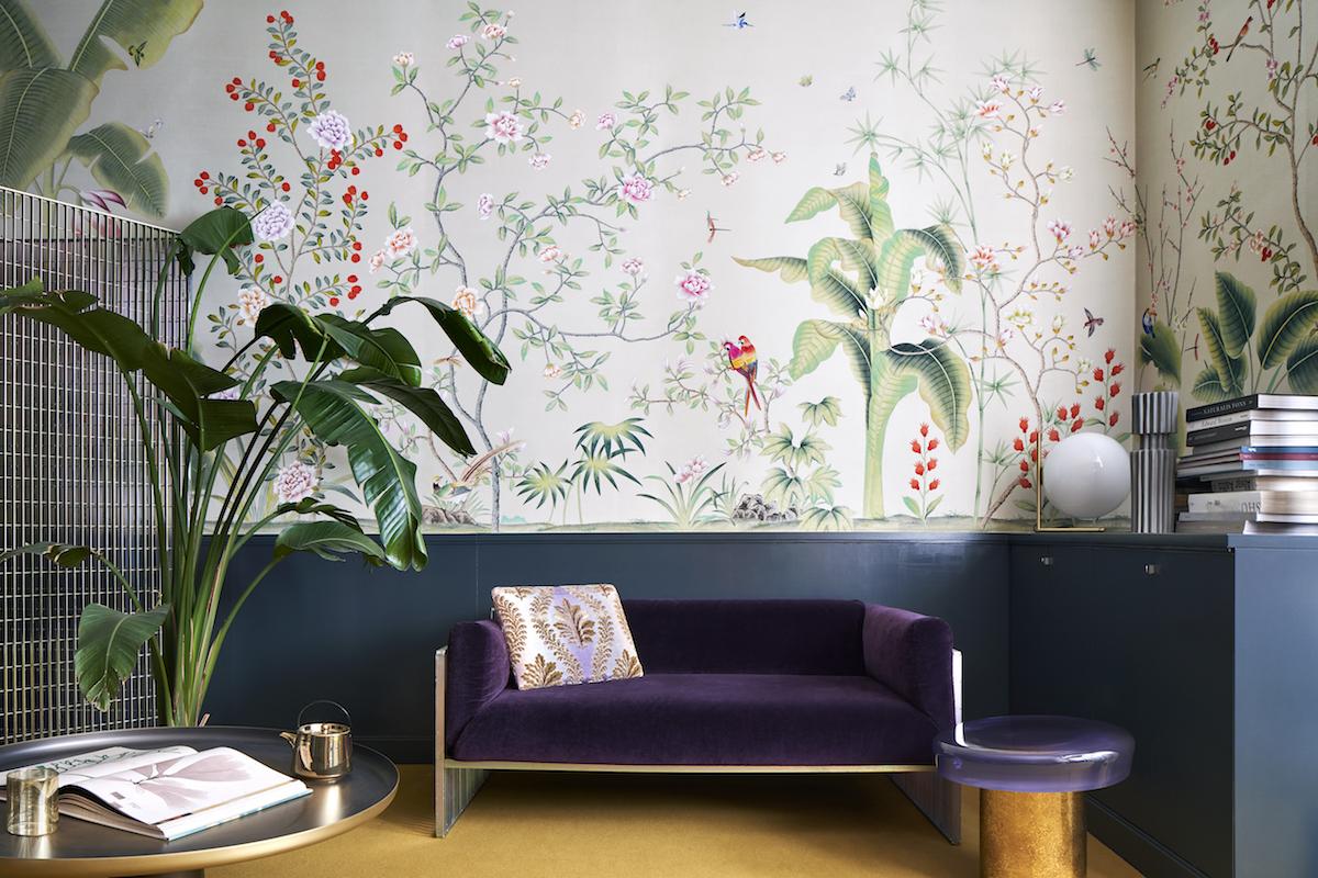 Showroom Misha a Milano. Rigoletto sofa by Studio 2046