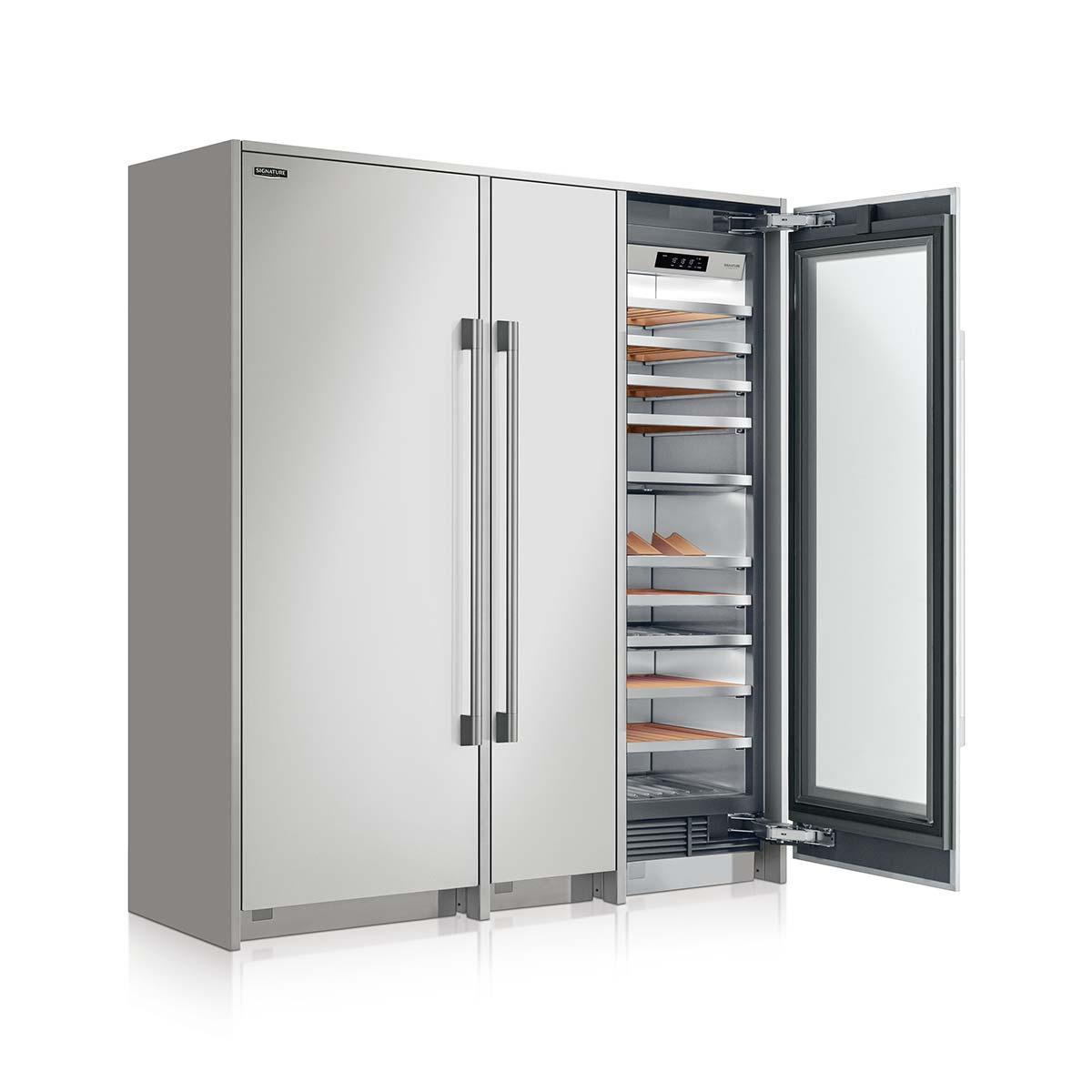 Soluzione combinata freestanding con frigorifero, congelatore e Vino Cantina by Signature Kitchen Suite