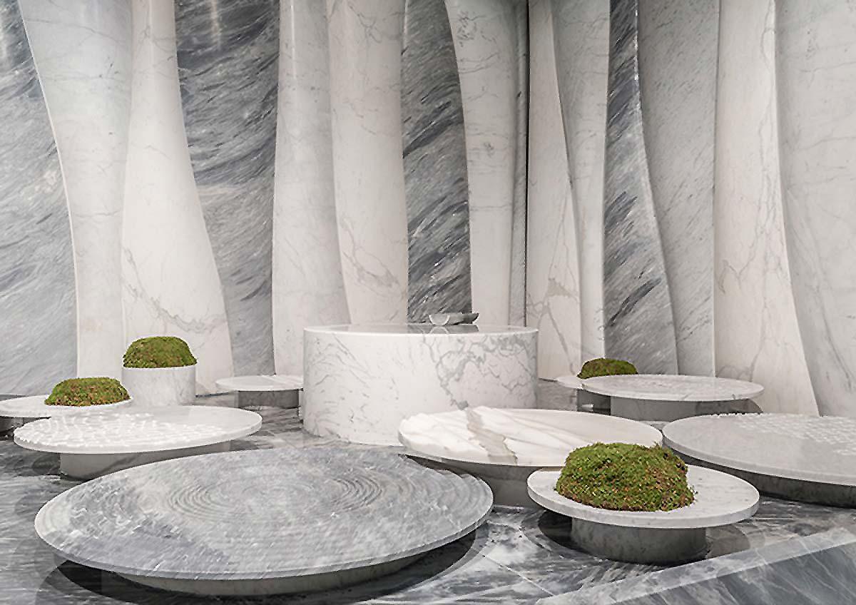 Stone Forest by Marmomacc, Design Setsu Ito