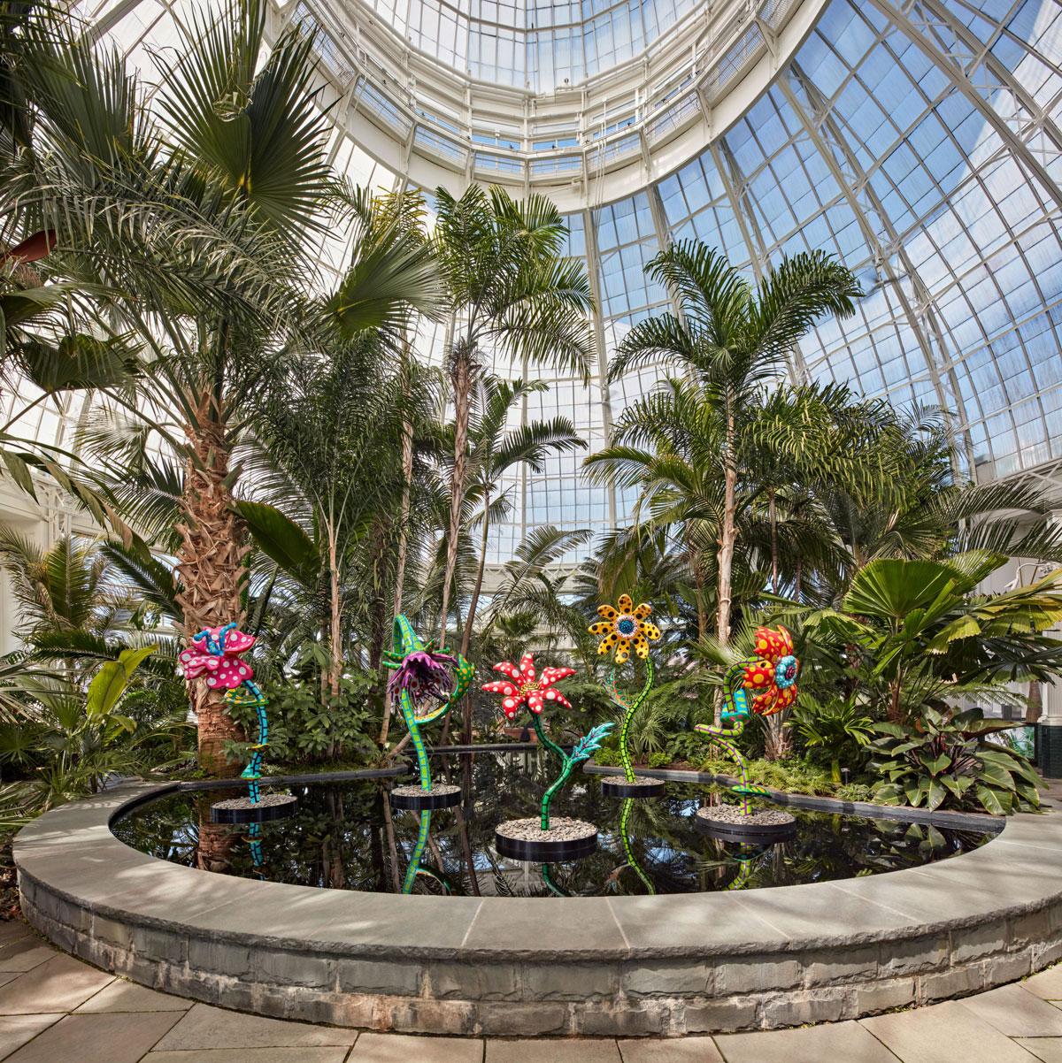 NY Botanical Garden, My Soul Blooms Forever by Yayoi Kusama