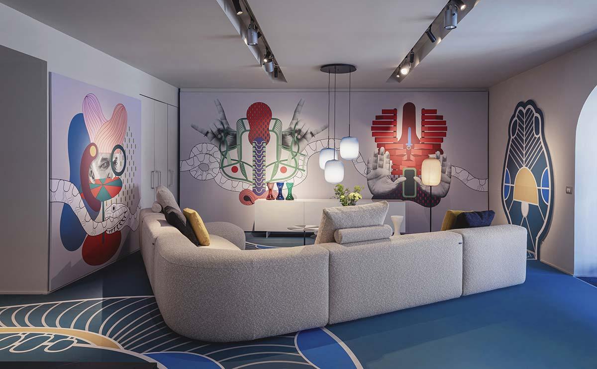 Amor Fati by Elena Salmistraro, Cappellini showroom, Milan