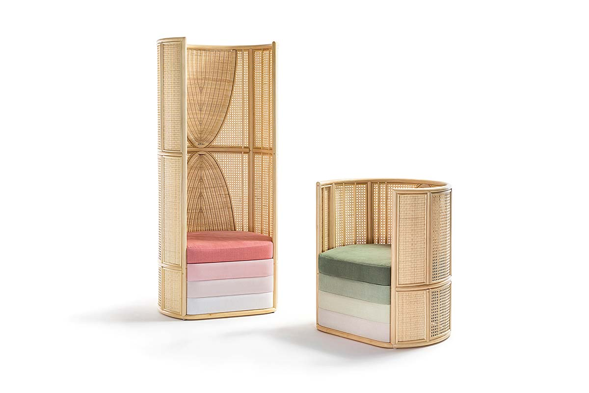 Lisetta by Bottega Intreccio, Design Elena Salmistraro