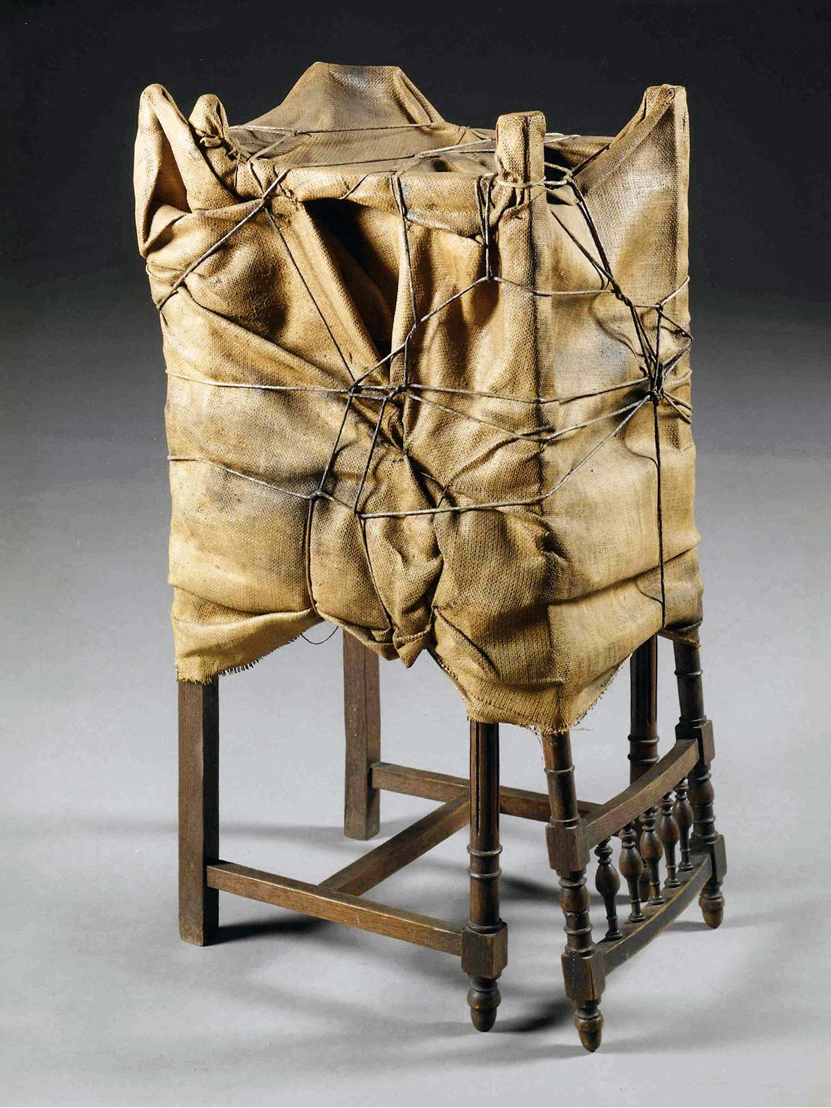 Two Wrapped Chairs by Christo - Photo © Wolfgang Volz