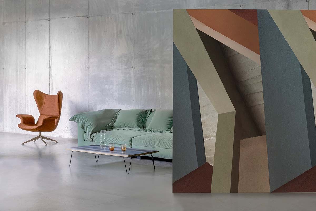 Diesel Living with Wall&decò. Architectural Color Block