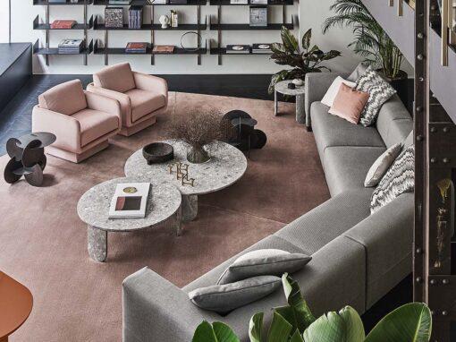 Elissa Sectional, Lilas & Resia by Gallotti&Radice, Design Dainelli Studio - Photo © Matteo Imbriani