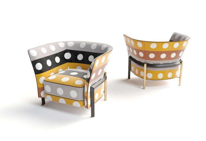 New Cosmo Dots & Stripes by Opera Contemporary, Design Castello Lagravinese Studio - Triennale pattern by Lanerossi