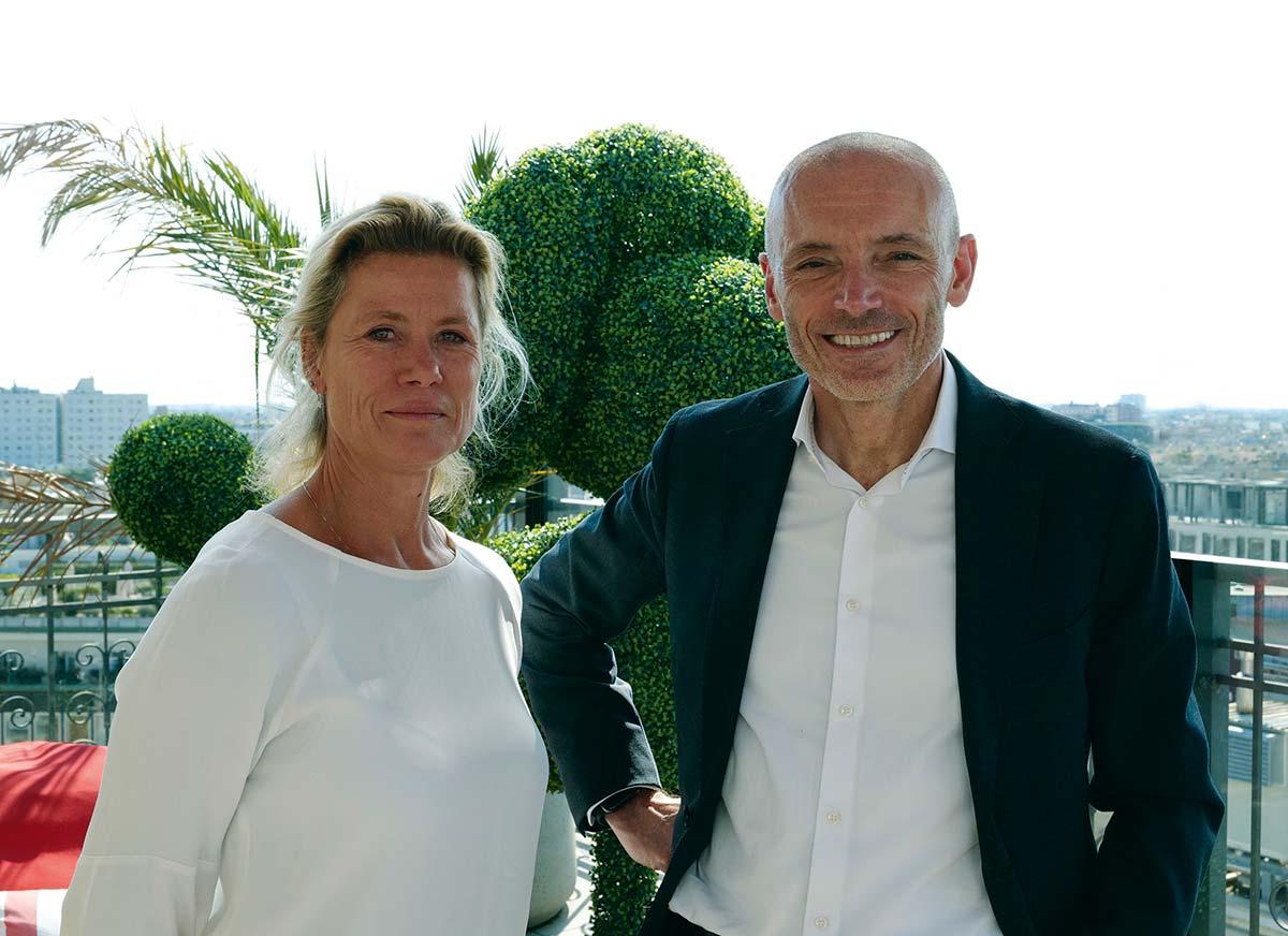 Petra Vos (CEO Fatboy) & Stefano Uliana (CEO Calligaris Group)